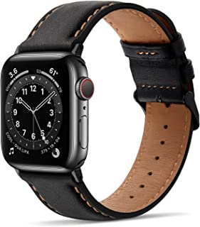 Tasikar Bands Compatible with Apple Watch Band Premium Genuine Leather Replacement Band Compatible with Apple Watch Series...