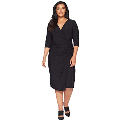 Kiyonna Vixen Cocktail Dress (Black Noir) Women