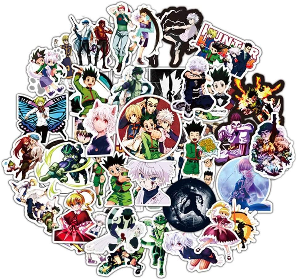 Amazon Com Bowinr Hunter X Hunter Car Stickers Anime Bumper Stickers For Laptop Car Luggage Skateboard And More 50pcs Garden Outdoor