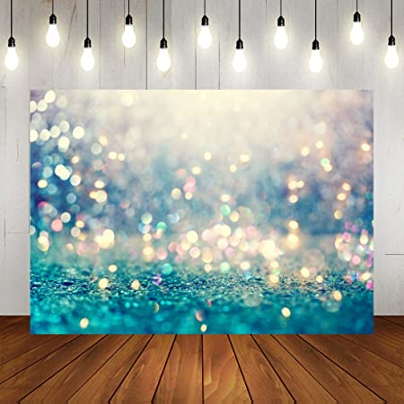 Blue Shiny Lights Kids Photography Newborn Baby Studio Background for Children Birthday Party Photo Booth Props