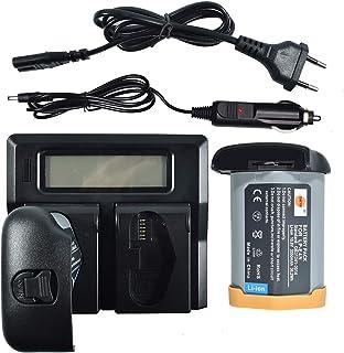 DSTE® 2Pack LP-E4N(10.8V/3350mAh) Batería + LCD Dual Cargador Compatible para LP-E19 Canon EOS-1D X Mark II,EOS-1D X,EOS-1D Mark IV,EOS-1Ds Mark III,EOS-1D Mark III Cámara