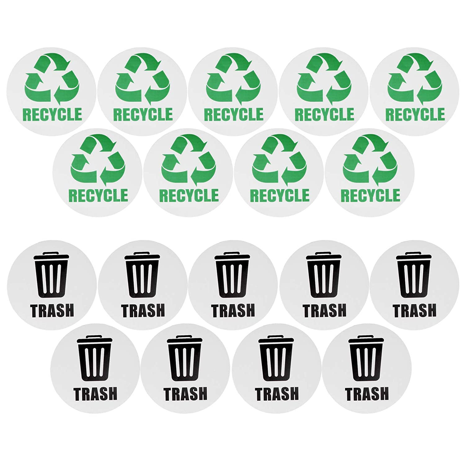 Aoutecen Waterproof Vivid Recycle Decal Tr Dustbin Large special price !! SALENEW very popular White Sticker