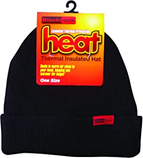 Blackrock Men's Black Heat Thermal Insulated Hat