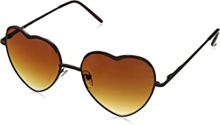 A.J. Morgan Women's Heart of Glass Round Sunglasses