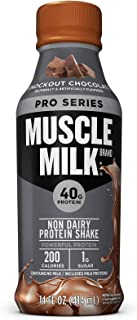 Muscle Milk Pro Series Protein Shake, Knockout Chocolate, 40g Protein, 14 FL OZ, 12 Count
