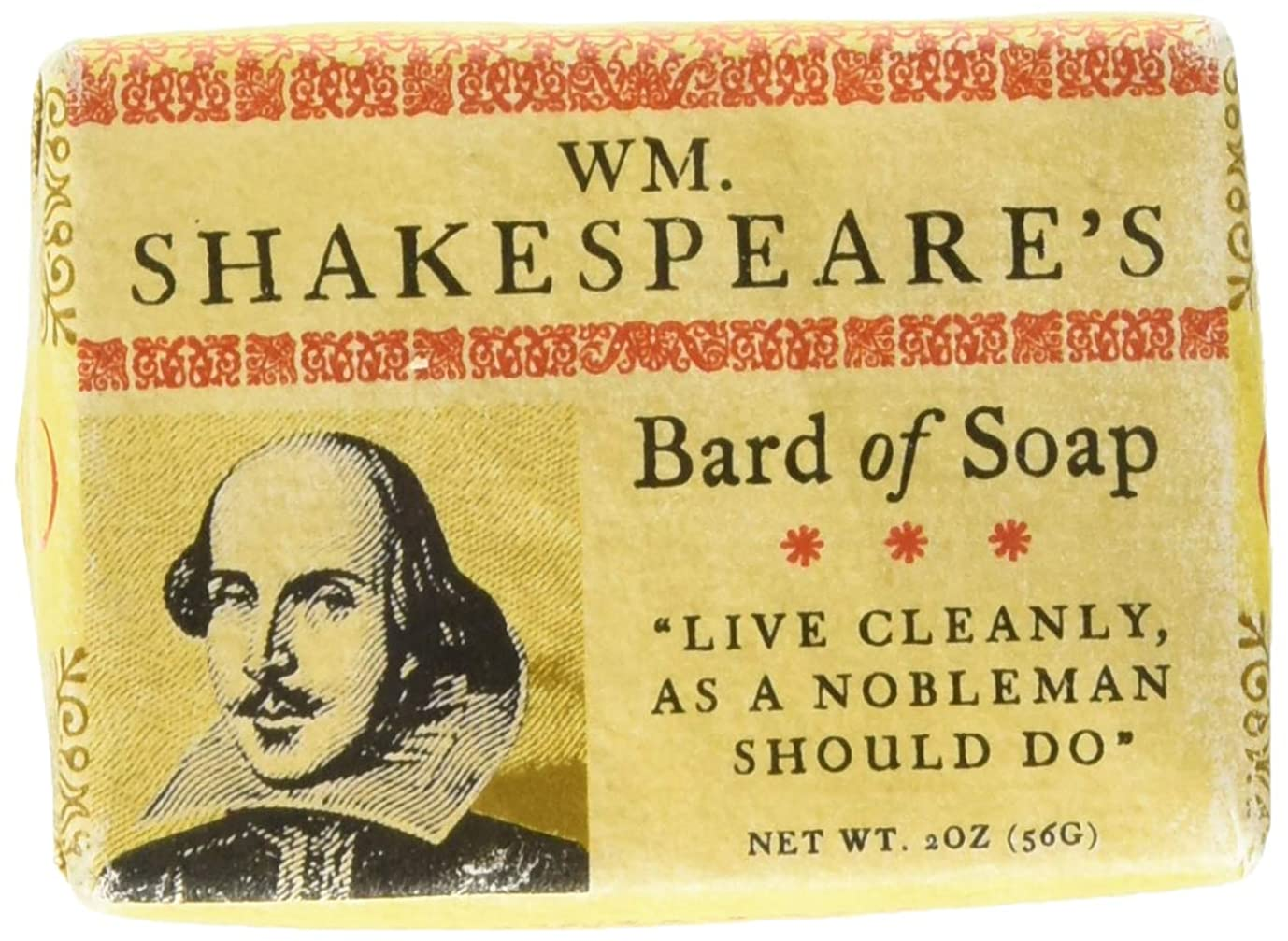 テント警告する追跡William Shakespeare Bath Soap