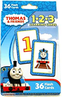 Thomas the Train and Friends 1 2 3 Learning Cards (36 Flash Cards) 123 Teaching Numbers Math Early Development Counting Ed...