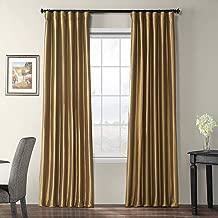 Half Price Drapes PTCH-BO206-120 Blackout Faux Silk Taffeta Curtain, Gold Nugget