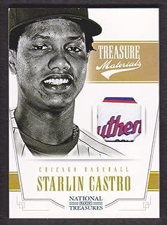 2012 Panini National Treasures Baseball Treasure Materials Laundry Tag #25 Starlin Castro 2/8 Chicago Cubs