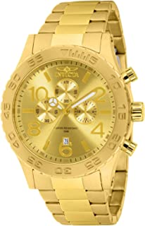 Men's Specialty Gold Tone Stainless Steel Quartz Chronograph Watch, Gold (Model: 1270)