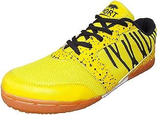 Port Unisex Adult Yellow Badminton Shoes-5 UK (39 EU) (6 US) (Z-501)