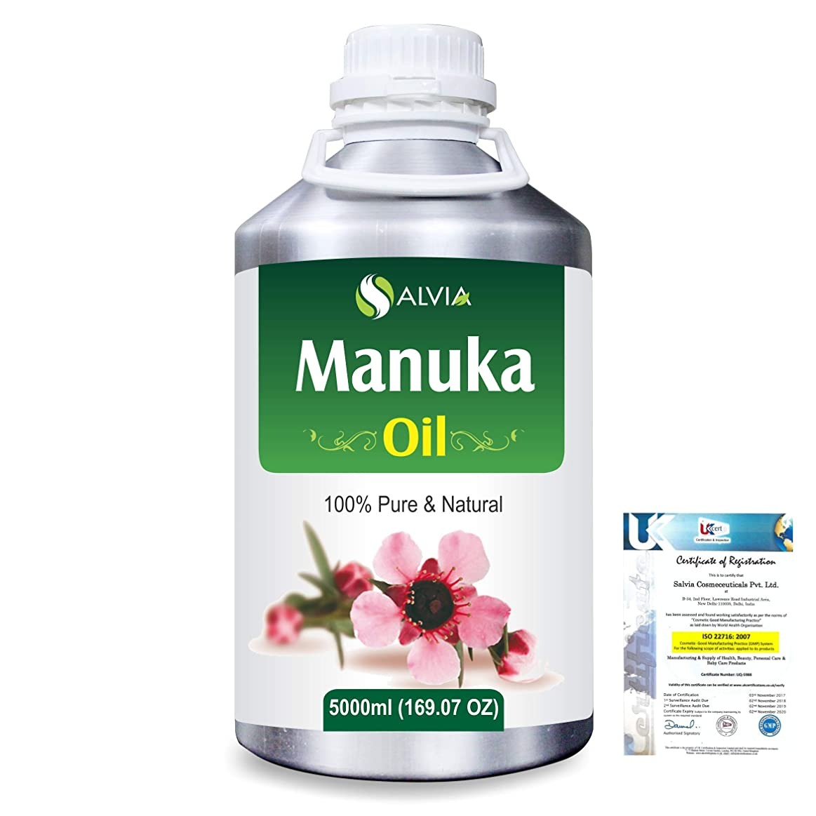 耳うがい舗装するManuka (Leptospermum scoparium) 100% Natural Pure Essential Oil 5000ml/169fl.oz.