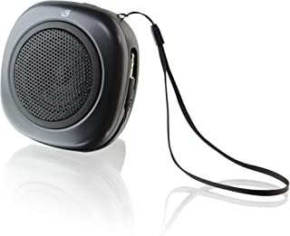 GPX, Inc. Portable Speaker with Built-in 3.5mm Audio Input Cable - Black