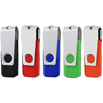 KEXIN 16GB Memoria USB 2.0 Pendrive 16GB Flash Drive Memory Stick para Computadoras, Tabletas y Otros Dispositivos [5 Unidades] Color de Azul Negro Verde Rojo Naranja …: Amazon.es: Informática