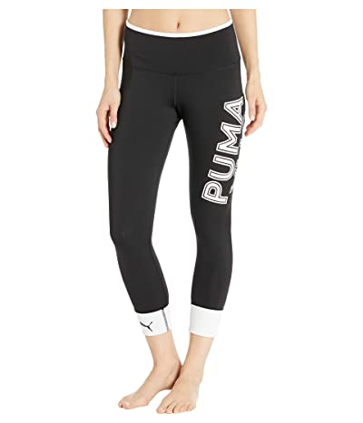 PUMA Modern Sports Fold Up Leggings (Puma Black/Puma White) Women