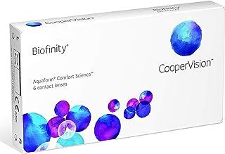 Biofinity - Lentes de contacto esféricas mensuales (R 8.6 / D 14 / -2.5 Diop), Pack de 6 uds.