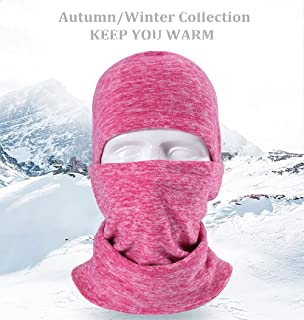 Pioneeryao Ski Mask Balaclava Fleece Hood for Men Women,Winter Neck Warmer Windproof Cap for Snowboarding Running Cycling