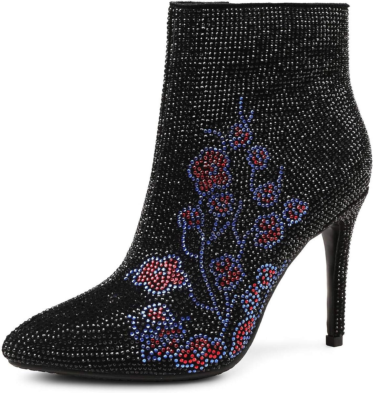 Booslipss, Fall    Winter ny läder Retro Square Head mode stövlar Damer Stiletto Heel Night Club Chelsea stövlar (Färg  A, Storlek  34)  online till bästa pris