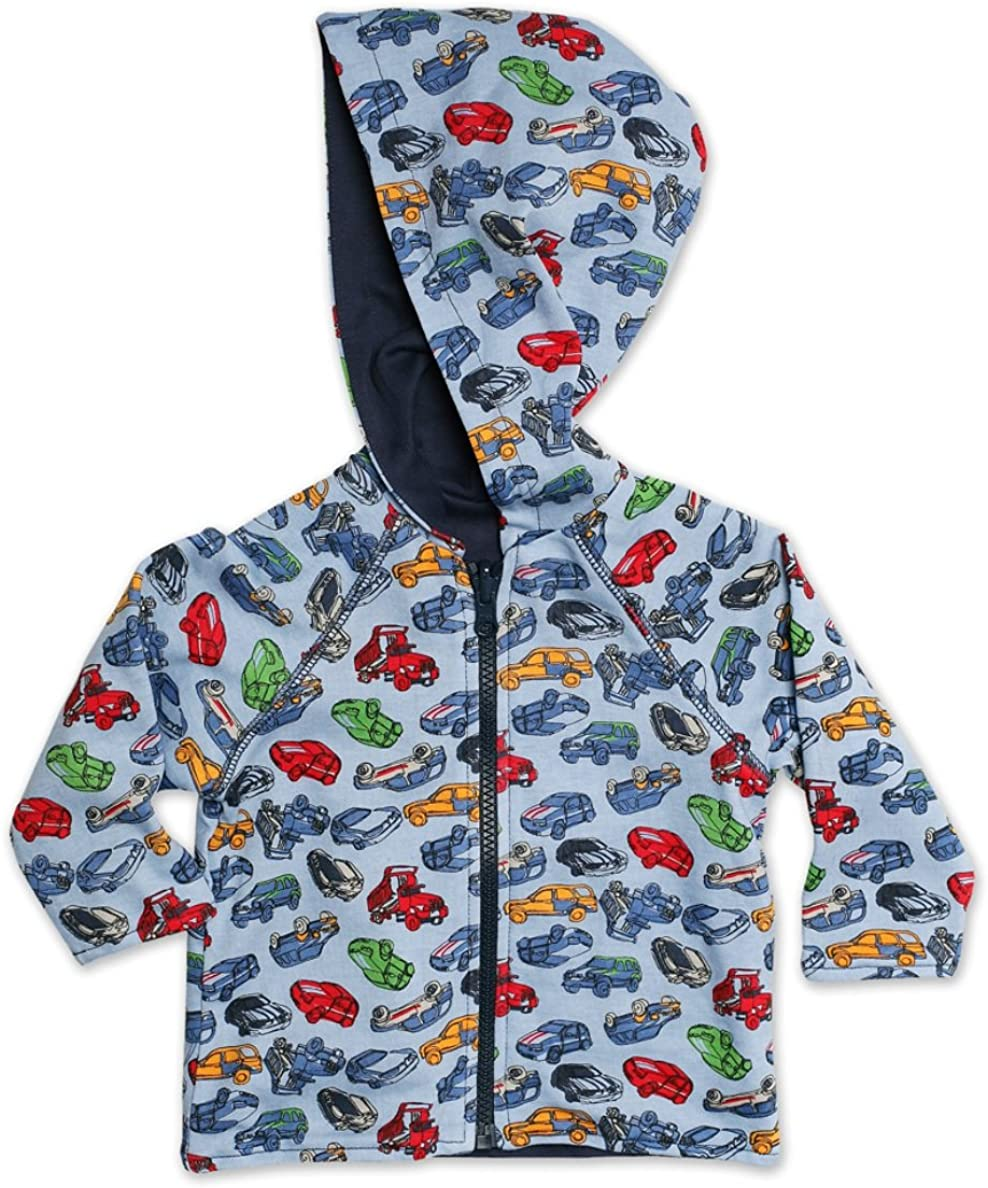 Zutano Baby Boys Motorway Reversible Zip Hoodie