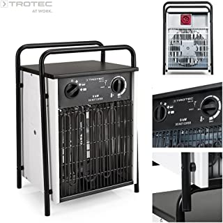 TROTEC TDS 50 - Calefactor eléctrico con 3 etapas, desde 4,5 kW hasta 9 kW