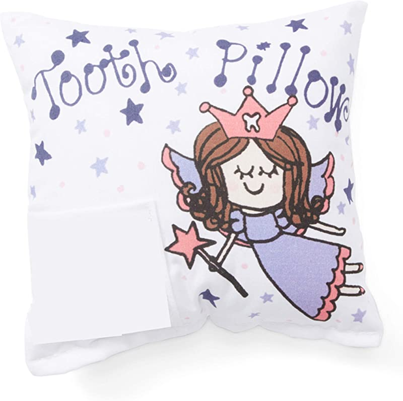 Bunnies And Bows Tooth Fairy Pillow With Tooth Fairy Dust And Poem Purple Fairy With Brown Hair 6 5 X 6 5 X 2 Handmade In USA