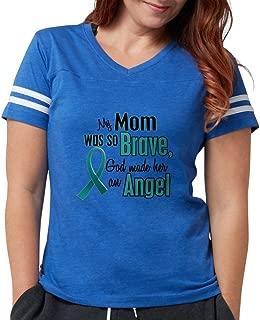Angel 1 Teal (Mom) T-Shirt - Womens Football Shirt