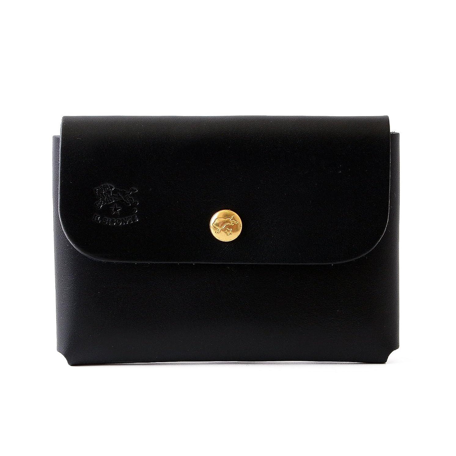 ソート用心適合[名入れ可] (イルビゾンテ) IL BISONTE レザー カードケース C0855 本革