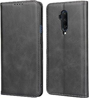 Zouzt OnePlus 7T Pro 手帳型ケースカバー カード収納 マグネット スタンド 5色 ブラック