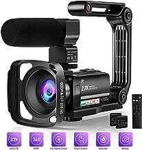 Video Camera Camcorder Digital Youtube Vlogging Camera, 2.7K Full HD 36MP/30FPS, IR Night..
