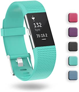 Fitbit Charge 2 Band,ZriEy TPU Wristband Adjustable Band Strap for Fitbit Charge 2 Fitness Watch,Man Woman,No Tracker