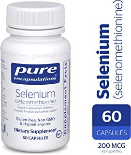 Pure Encapsulations - Selenium (Selenomethionine) - Hypoallergenic Antioxidant Supplement for Immune System Support* - 60 Capsules