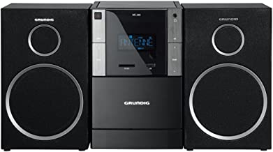 Grundig MS 240 - Microcadena (Micro set, Negro, De 2 vías, 8 Ohmio, 60W, FM, PLL)