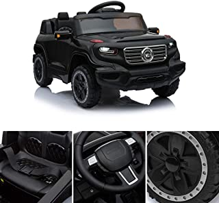 LAZYMOON Sandinrayli 6V Kids Ride On Vehicle w/ MP3 Electric Battery Power RC Remote Control Black