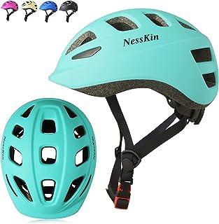 NESSKIN Kids Bike Skateboard Adjustable Helmet for Ages 2 to 12 Years Old Boys Girls