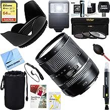 Tamron 16-300mm f/3.5-6.3 Di II VC PZD Macro Lens for Nikon Cameras (AFB016N-700) + 64GB Ultimate Filter & Flash Photography Bundle