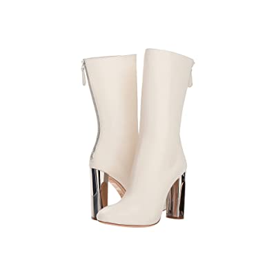 Alexander McQueen Sculpted Heel Fitted Bootie (Ivory) Women