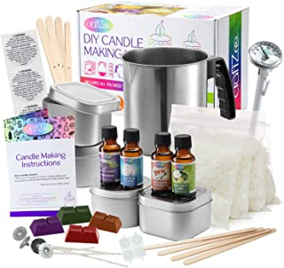 Candle Making Kit Crafts For Adults - Candle Making Supplies Soy Wax for Candle Making - Wax Melter for Candle Making - So...