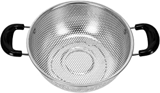 Royalford Stainless Steel Micro-Perforated Colander – 25.5 cm Professional Colander for Food Fruit Vegetable & Pasta - Str...
