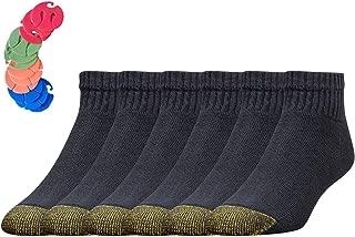 Gold Toe Men's Cotton Quarter Athletic Socks 6-Pack / 6 Free Sock Clips Included
