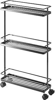 Yamazaki Home Tower Rolling Kitchen Storage Cart – Portable Organizer Shelves