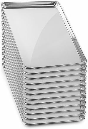 featured product GRIDMANN 13 x 18 Commercial Grade Aluminum Cookie Sheet Baking Tray Jelly Roll Pan Half Sheet - 12 Pans