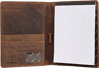Greenburry Greenburry Vintage Leder Schreibmappe DIN A4 braun Konferenzmappe Leder - 32 x 25 x 2 cm