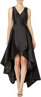 Calvin Klein Women's Sleeveless V-Neck High Low Gown with Back Zipper