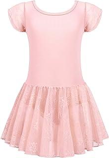 trudge Kinder Ballettkleid Ballettkleidung Mädchen Kurzarm Tanzkleid Ballettanzug Balletttrikot Tanzbody mit Rock