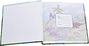 ARPAN 4 x 6'' Kids Cute Dinosaurs in Prehistoric Scene Slip In Memo Childrens Photo Album For 200 Photos