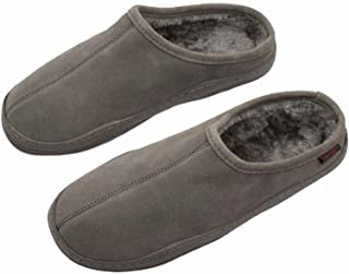 PRO 11 WELLBEING Men's Suede Orthotic Slipper with Full Length Arch Support Insoles for Ultimate Comfort