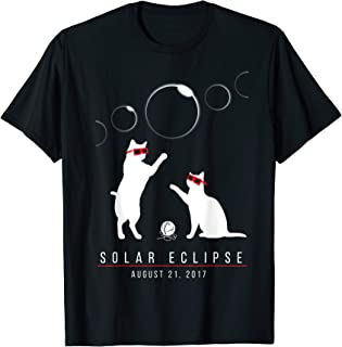 Cat Total Solar Eclipse August 2017 Funny Gift T-Shirt