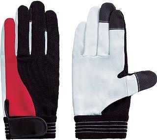 富士グローブ TG-305 M ツートングリップ 3647 牛本革手袋(袖口マジックタイプ)