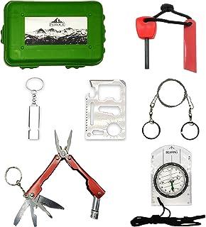 COMEYOU Fire Starter Steel Flint Striker Survival Tool Kit para Acampar al Aire Libre Living Survival Tool Color Aleatorio 3 Piezas