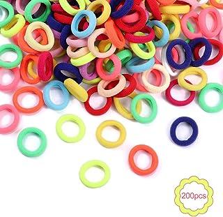 200 stuks kleurrijke elastische haarbanden voor meisjes Mini zachte elastiekjes Baby haarbanden Paardenstaart houders